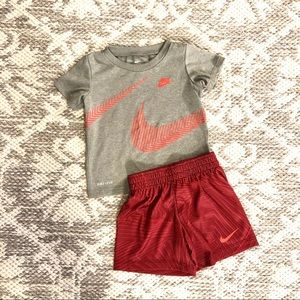 Nike Dri-Fit Toddler Boy Shorts Set 2pc Outfit